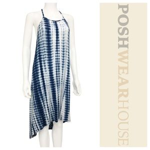 Dresses & Skirts - Blue & White High / Low Dress / Swimsuit Coverup